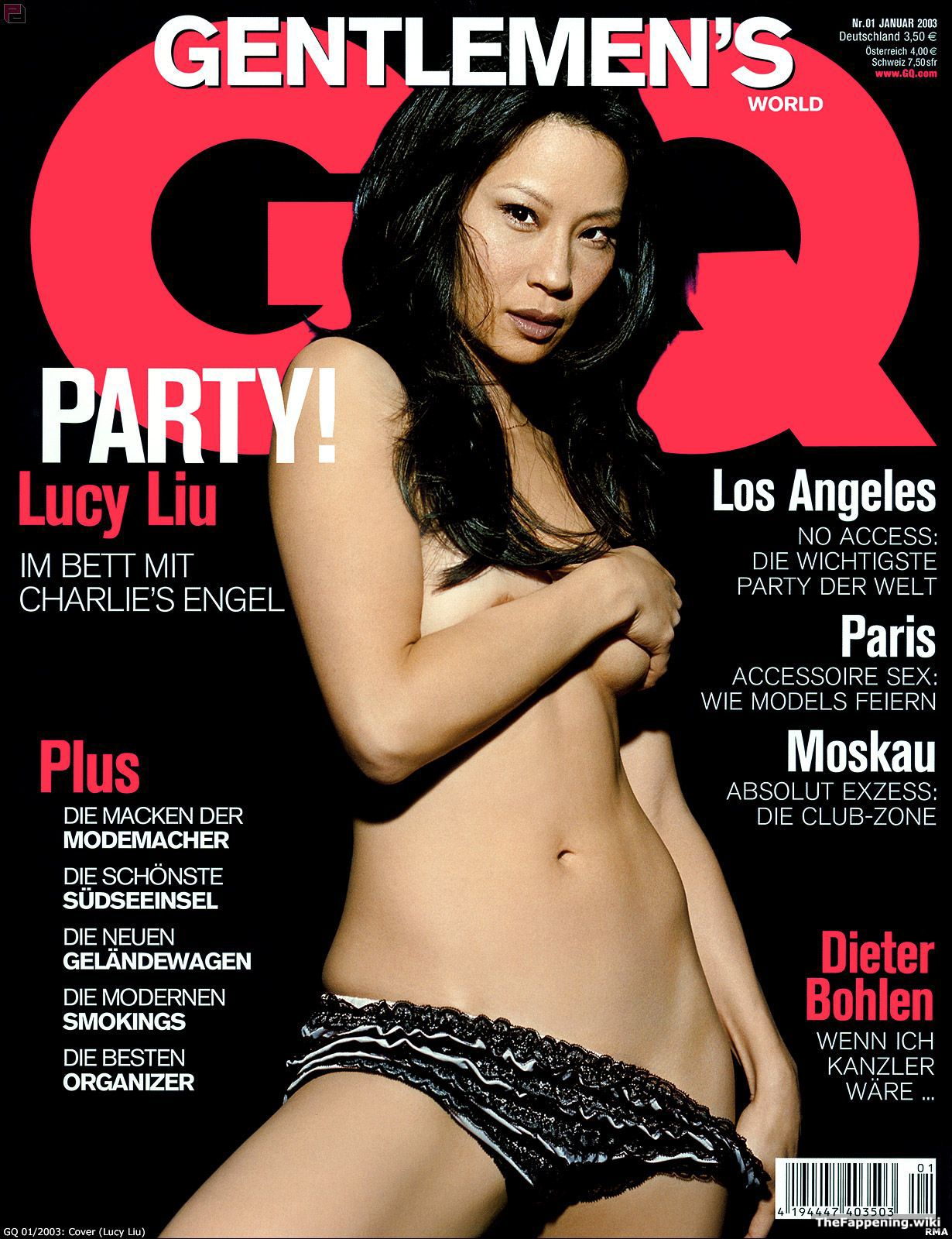 Lucy Liu Nude Naked Porn - ... the whole world to see what she has to offer. Her extremely pretty  boobs are on full display in a very sheer, see-through piece of lingerie  that she ...